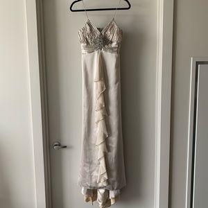 Champange prom dress